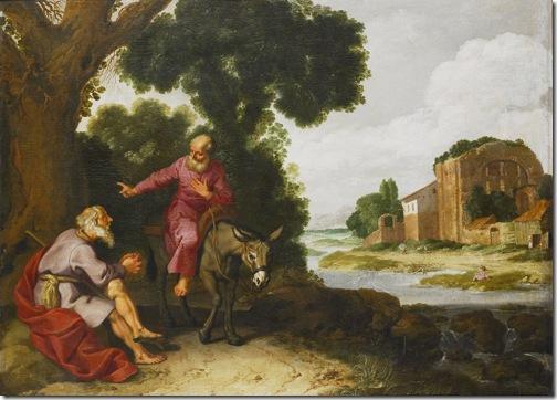 The prophet from Bethel meets the man of God (The old prophet met the man of God/ De oude profeet ontmoet de man Gods / De profeet van Bethel ontmoet de man Gods uit Juda), 1629, Lambert Jacobsz