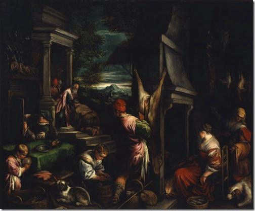 The Return of the Prodigal Son (Le Retour du Fils Prodigue / l'Enfant Prodigue), 1574-1577, Jacopo Bassano