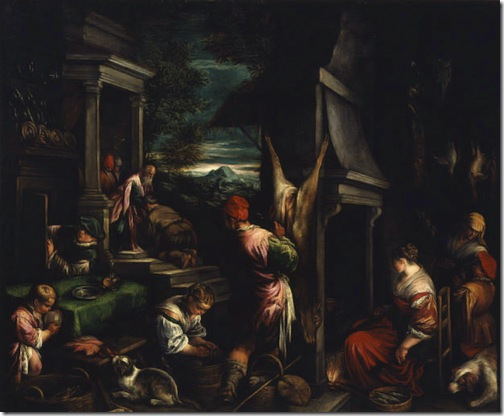 The Return of the Prodigal Son (Le Retour du Fils Prodigue / l'Enfant Prodigue), 1574-1577, Jacopo Bassano