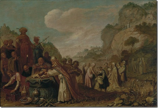 The sacrifice of Saul (Het offer van Saul), 1627, Rombout van Troyen
