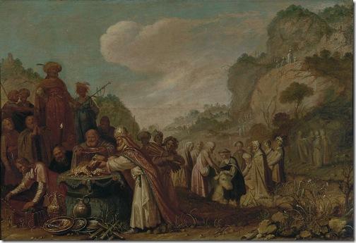 The sacrifice of Saul (Het offer van Saul), 1627, Rombout van Troyen