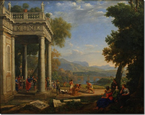 Samuel Anointing David King of Israel (David anointed by Samuel / David sacré roi par Samuel), 1647, Claude Lorrain