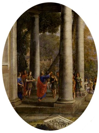 DETAIL: Samuel Anointing David King of Israel (David anointed by Samuel / David sacré roi par Samuel), 1647, Claude Lorrain