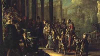 Solomon and the Queen of Sheba, (Salomon et la reine de Saba), 1624, Claude Vignon. Also called Esther before Ahasuerus.