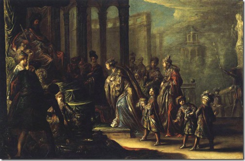 Solomon and the Queen of Sheba, (Salomon et la reine de Saba), 1624, Claude Vignon