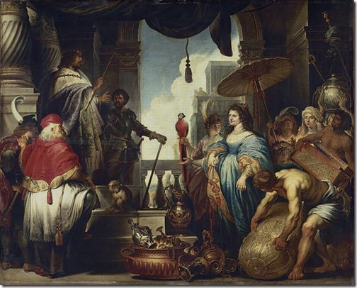 Solomon and the Queen of Sheba (Salomon et la Reine de Saba), Second quarter 17th century, Jan-Erasmus Quellinus