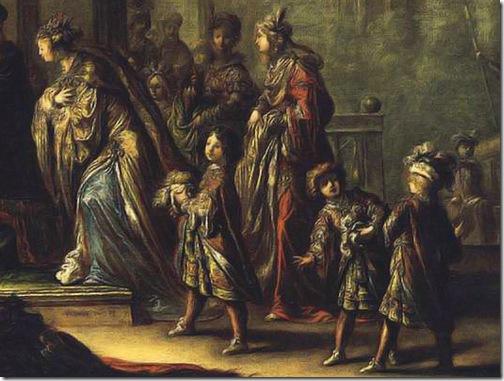 DETAIL: Solomon and the Queen of Sheba, (Salomon et la reine de Saba), 1624, Claude Vignon