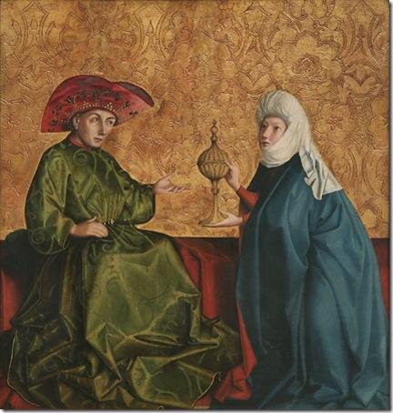 King Solomon and the Queen of Sheba (König Salomo und die Königin von Saba), 1435, Konrad Witz