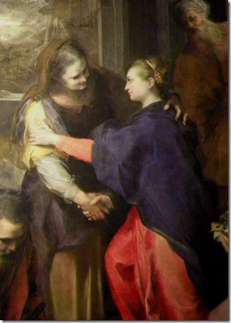 DETAIL: The Visitation, 1583-86, Federico Barocci