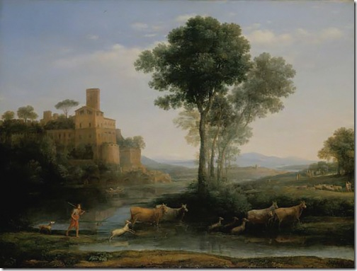 Landscape with the Voyage of Jacob, 1677, Claude Lorrain
