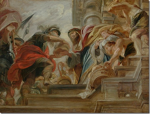 The Meeting of Abraham and Melchisedek (La Rencontre d'Abraham et de Melchisédech), 1620-21, Peter Paul Rubens