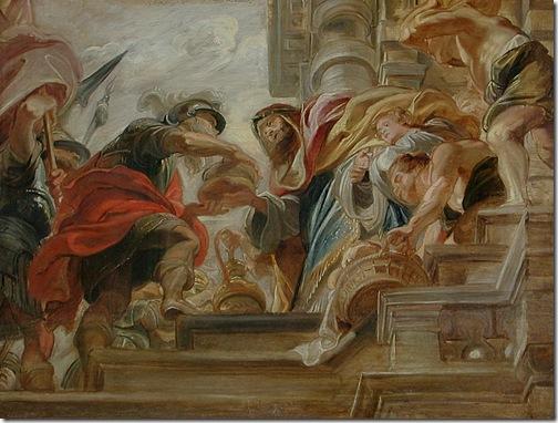 The Meeting of Abraham and Melchisedek (La Rencontre d'Abraham et de Melchisédech), 1620-21, Peter Paul Rubens