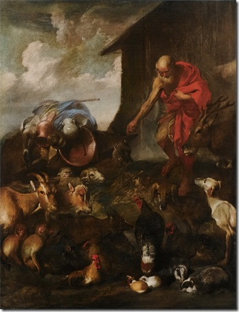 The Animals Entering Noah's Ark, ca. 1650, Giovanni Benedetto Castiglione