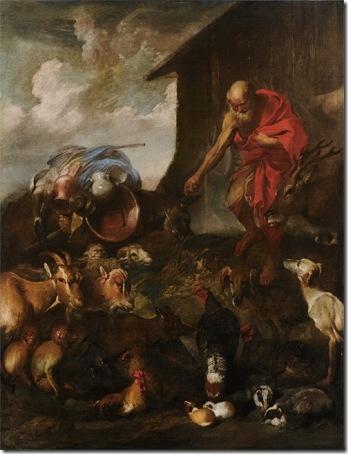 The Animals Entering Noah's Ark, ca. 1650, Giovanni Benedetto Castiglione