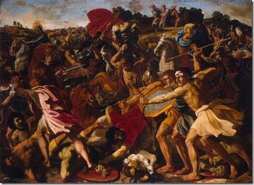 The Victory of Joshua Over the Amalekites (Battle of Israelites with Amalekites), 1625, Nicolas Poussin