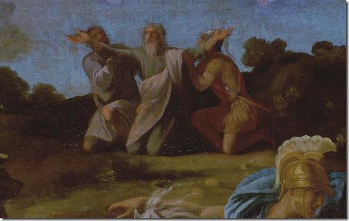 DETAIL: The Victory of Joshua Over the Amalekites (Battle of Israelites with Amalekites), 1625, Nicolas Poussin
