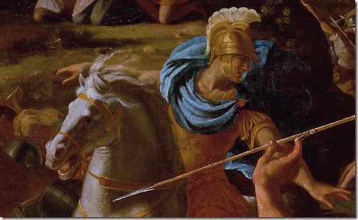 DETAIL: The Victory of Joshua Over the Amalekites (Battle of Israelites with Amalekites), 1625, Nicolas Poussin