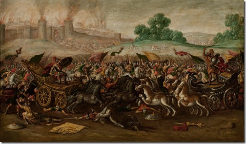The Burning of Jerusalem by Nebuchadnezzar's Army (Incendio de Jerusalén por el ejército de Nabucodonosor), 1630-1660, Circle of Juan de la Corte
