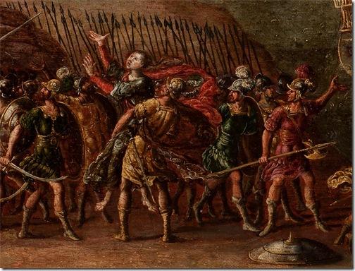 DETAIL: Deborah and Barak against Sisera, 1630 – 1660, Circle of Juan de la Corte