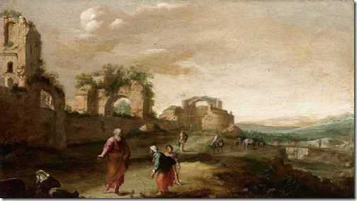 Elijah and the Widow of Zarephath (Elia en de weduwe van Sarefat), ca. 1630, Bartholomeus Breenbergh