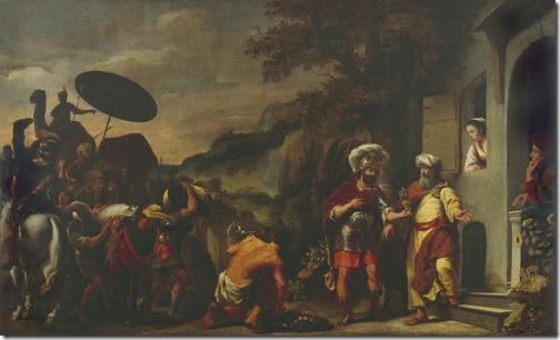 Elisha refusing the gifts of Naaman (Elisa weigert het geschenk van Naäman), 1661, Ferdinand Bol
