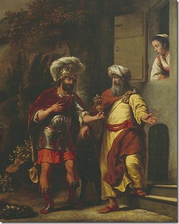 DETAIL: Elisha refusing the gifts of Naaman (Elisa weigert het geschenk van Naäman), 1661, Ferdinand Bol
