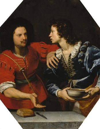 Esau Selling His Birthright (Esaù vende la primogenitura a Giacobbe / Giacobbe ed Esaù: la vendita della primogenitura), 1642-1644, Lorenzo Lippi