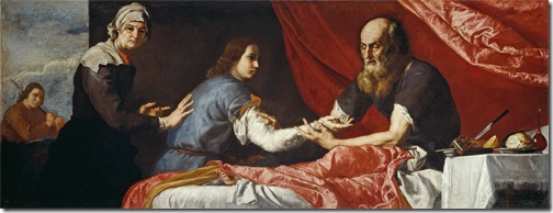 Isaac Blessing Jacob (Jacob Receives Isaac's Blessing / Isaac y Jacob), 1637, Jusepe de Ribera