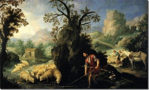 Jacob Laying Peeled Rods before the Flocks of Laban (Jacob pone las varas al ganado de Labán), ca. 1660-1665, Bartolomé Esteban Murillo