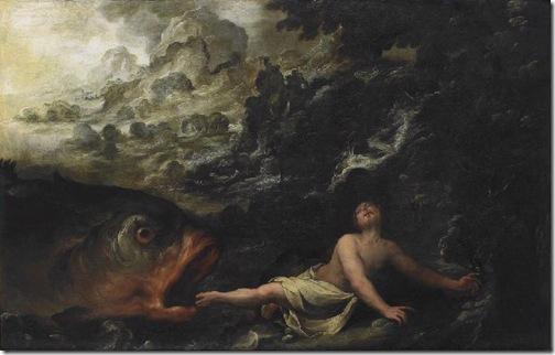 """Jonah and the Whale"" (""Jonas et la baleine""), 17th century, Louis Brandin"