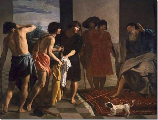 Joseph's Bloody Coat Brought to Jacob (La túnica de José), 1630, Diego Velázquez