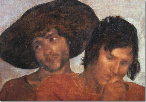 DETAIL: Joseph's Bloody Coat Brought to Jacob (La túnica de José), 1630, Diego Velázquez