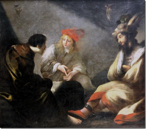Joseph Interprets Dreams in Prison (Joseph en prison expliquant les songes), 1643-1670, Claude Vignon
