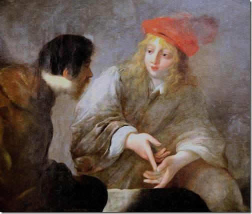 DETAIL: Joseph Interprets Dreams in Prison (Joseph en prison expliquant les songes), 1643-1670, Claude Vignon