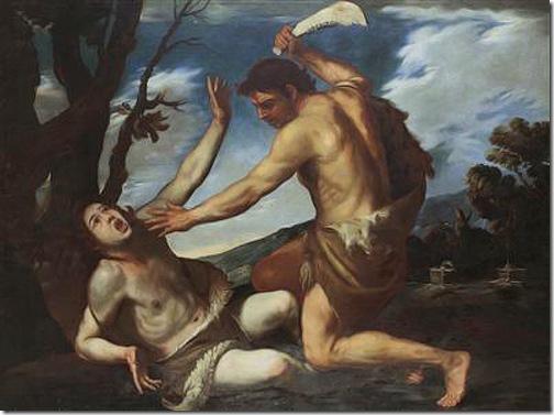 Cain kills his brother Abel (The Killing of Abel / Uccisione di Abele), 1620-1630, Pacecco de Rosa & Filippo Vitale