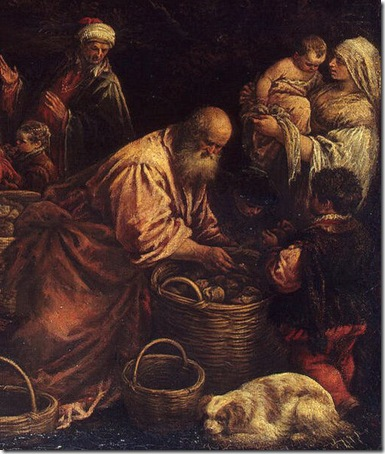 DETAIL: Miracle of the Loaves and Fishes, Early 1580s, Francesco Bassano
