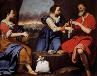 Lot and his Daughters (Lot e le figlie), ca. 1645-1655, Lorenzo Lippi