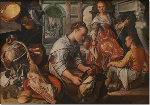 Christ in the House of Martha and Mary (Jezus bij Martha en Maria), 1565, Joachim Beuckelaer
