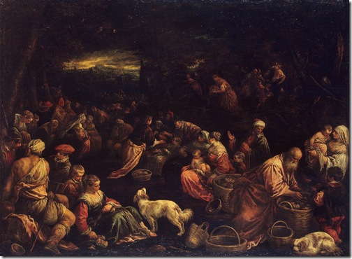 Miracle of the Loaves and Fishes, Early 1580s, Francesco Bassano
