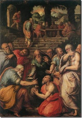 The Miracle of Elisha (Miracolo di Eliseo / il Profeta Eliseo che risana i cibi / Il profeta Eliseo), ca. 1566, Giorgio Vasari