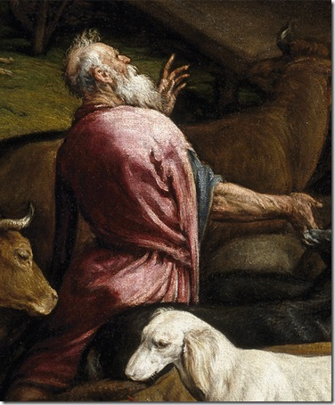 DETAILS: The Animals Entering Noah' Ark (Entrada de los animales en el arca de Noé), ca. 1570, Jacopo Bassano