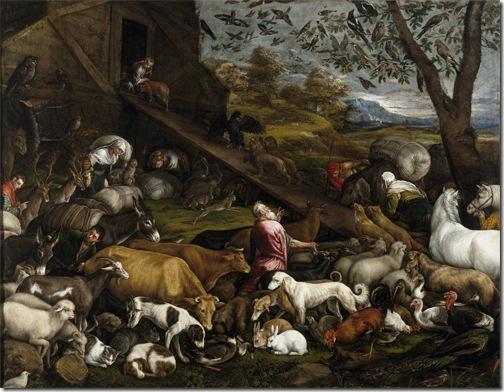 The Animals Entering Noah' Ark (Entrada de los animales en el arca de Noé), ca. 1570, Jacopo Bassano
