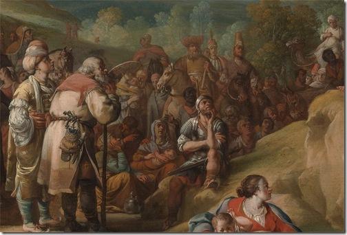 DETAIL: The Preaching of Saint John the Baptist, 1634, Bartholomeus Breenbergh