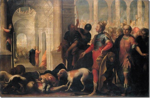 Queen Jezabel Being Punished by Jehu (La punizione della regina Jezabel), second half of 17th century, Andrea Celesti