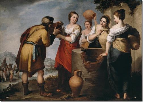 Rebecca and Eliezer (Rebeca y Eliezer / Rebecca und Eliezer), ca. 1655, Bartolomé Esteban Murillo