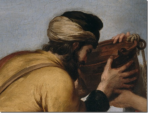 DETAIL: Rebecca and Eliezer (Rebeca y Eliezer / Rebecca und Eliezer), ca. 1655, Bartolomé Esteban Murillo