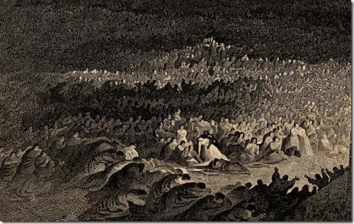 DETAIL: The Repentance of Nineveh (Buße der Niniviten/ La repentance de Ninive), 1832, Henry Le Keux after John Martin