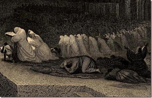 DETAIL: The Repentance of Nineveh (Buße der Niniviten/ La repentance de Ninive), 1832, Henry Le Keux after John Martin