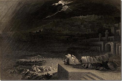 The Repentance of Nineveh (Buße der Niniviten/ La repentance de Ninive), 1832, Henry Le Keux after John Martin