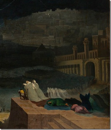 DETAIL: The Repentance of Nineveh (Buße der Niniviten/ La repentance de Ninive), 1829, John Martin